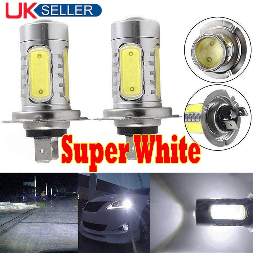 2x H11 COB Cree LED Error Free Headlight 120W 10000LM Low Beam 6000K White Bulbs