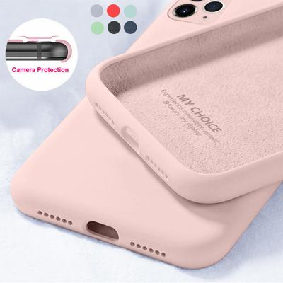 Luxury Liquid Silicone Soft Case For Iphone 11 12 Pro Max X XR XS 7 8 Plus 6 6S SE 2020 Camera Protective Cover