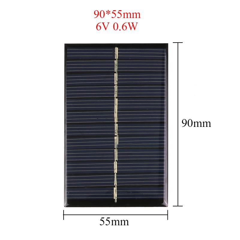 Panel de Energía Solar 6 V 110Ma 0,6w Para Cargadores de Teléfonos Celulares