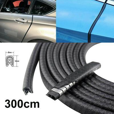 Car Door Edge Guard U Shape Trim Molding Carbon Fiber Seal Protector 5M