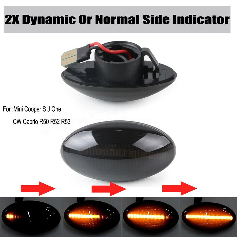 MINI White Side Light Marker Signal Indicator Lens Hatch Clubman Cabrio Cooper