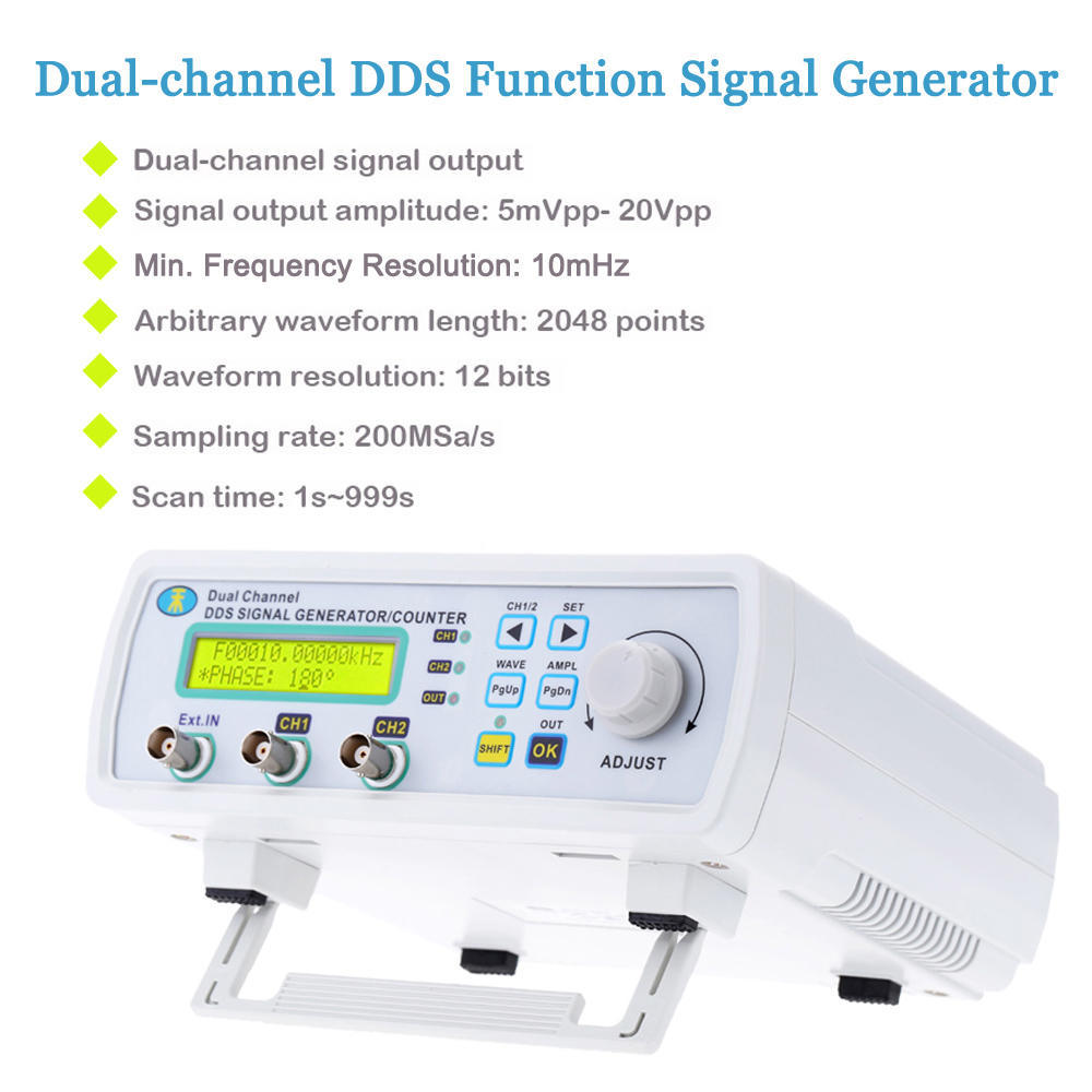 6mhz Digital Dds Dual Channel Signal Source Generator Kit Frequency 20mhz High Speed 2 Of 12
