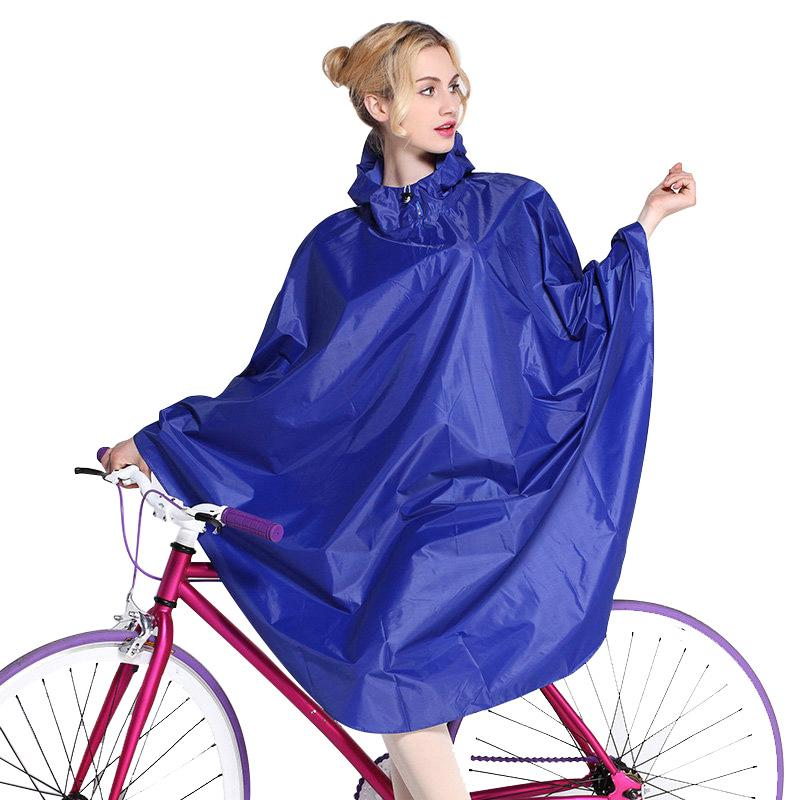 WATERPROOF RAINCOAT JACKET OUTDOOR TRAVEL RAIN COAT HOODED CAPE CYCLING PONCHO