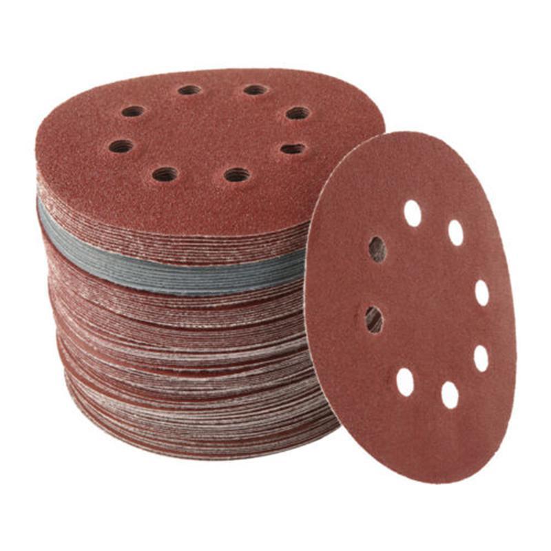 "100pc 125mm 5/"" Sanding Discs Pads 80-3000 Mix Orbital Sander Hook Loop Sandpaper"