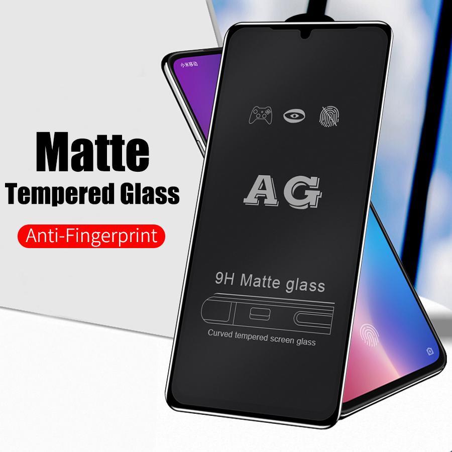 Матовое закаленное стекло для Xiaomi Redmi 7 Huawei P20 P30 Nova 3e 4e Honor 10 20i Samsung iPhone Anti-Fingerprint Screen Protector фото