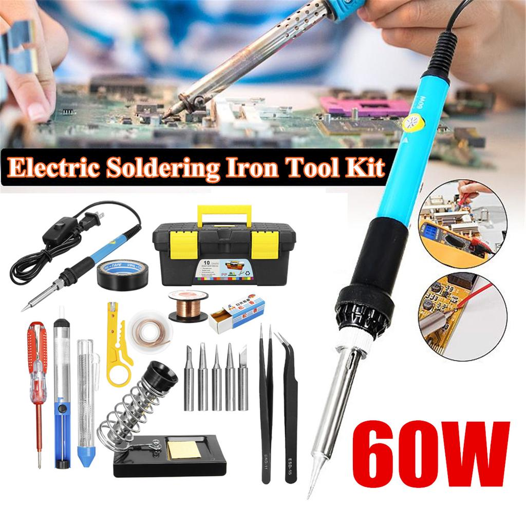 60W Electric Soldering Iron Gun Tool Kit 110V Welding Desoldering Pump Tool Set⭐