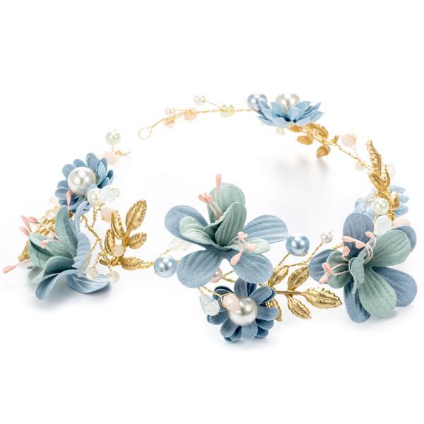 Adjustable Simulated Leaf Hair Band Hair Wreath Floral Garland Crown Halo Headpiece Boho Wedding Festival