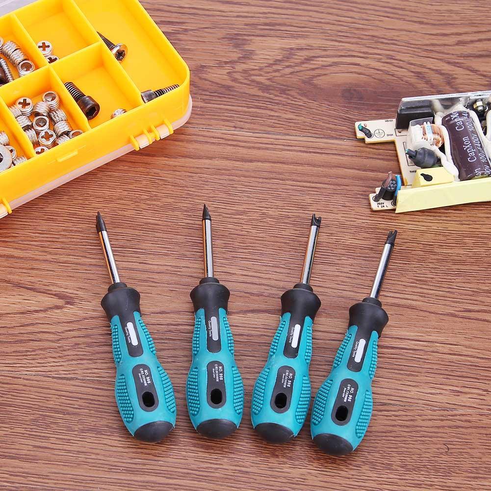 4 Pcs U Type Screwdriver Set Screwdriver Bits U Fork Type Chrome-Vanadium Steel Multi Function Hand Tool Set