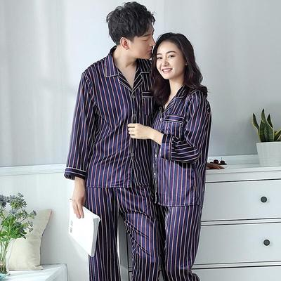 9f3cfc7aa1 Homewear pigiama Set primavera zebrato coppia pigiami di seta moda Casual