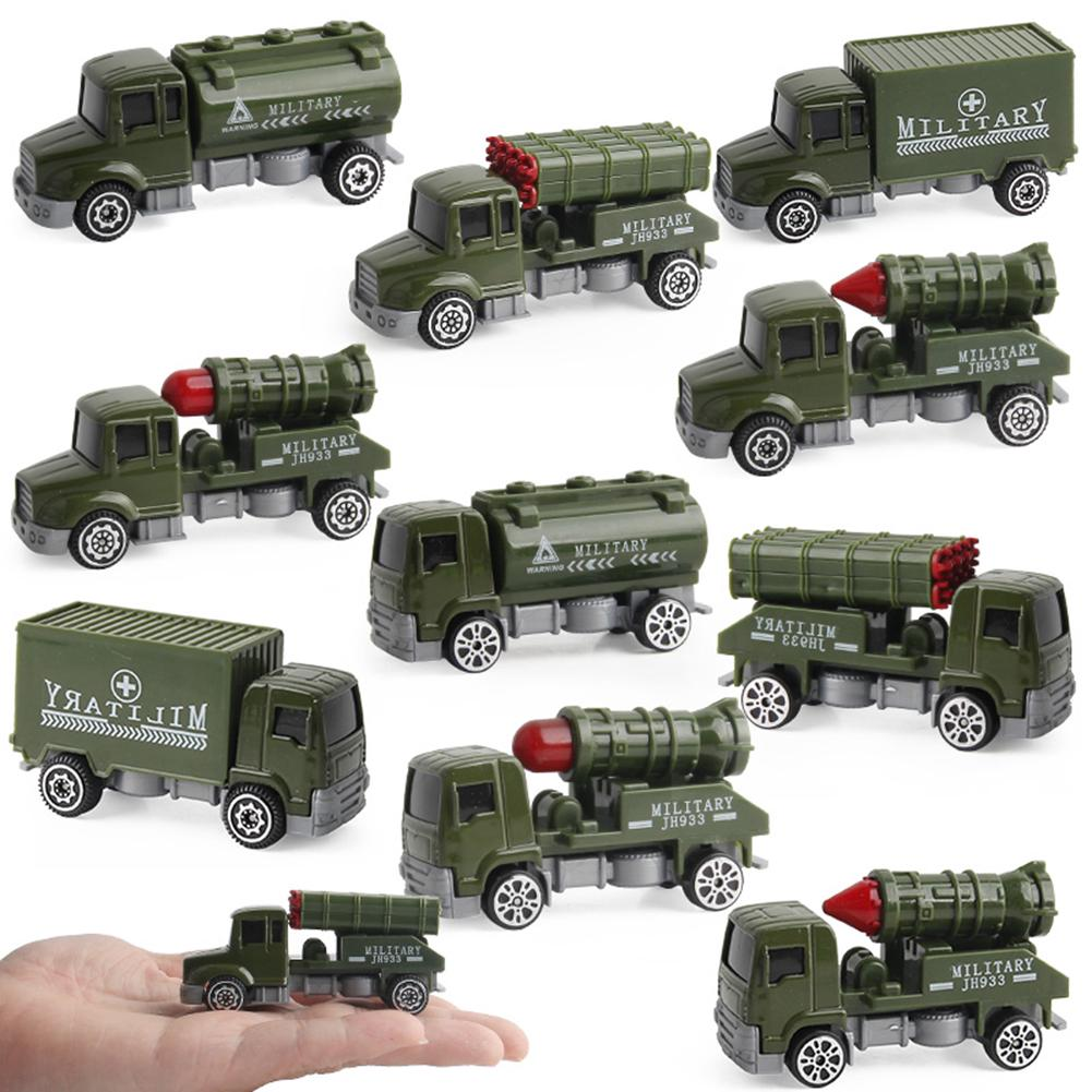 Military Truck Cars Pull Back Toy Alloy Model Car Playset Soldier For Boys Kids