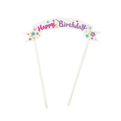 Sensational Happy Birthday Cake Topper Cake Decorations Party Supplies Pink Funny Birthday Cards Online Alyptdamsfinfo