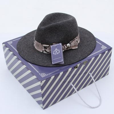 5be1a88f5e29f Women s Fashion Floral Ribbon Bowknot Wool Hat Wide Brim Jazz Fedora Hats  Pillbox Hat