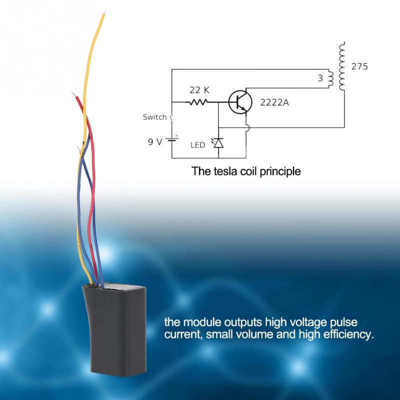 DC 3V-6V to 400kv High Voltage Pulse Inverter Transformer Ignition Coil Module