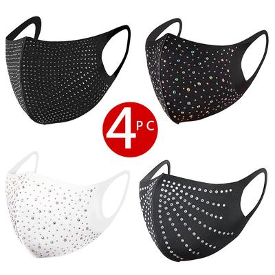 4 Pack PM2.5 Diamonds Breathable Mouth Party Mask Washable And Reusable