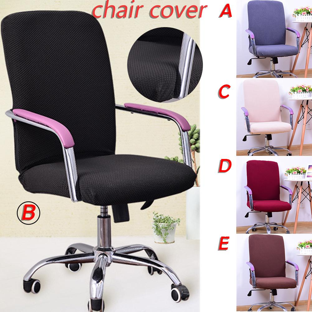 Color Siamese Stretch Home Comfort Table Hotel Office Computer Chair Cover Cute