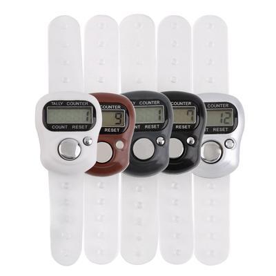 Mini 5 Dígitos LCD Digital Mano Dedo Tally Contador tejer palma Clicker tasbee