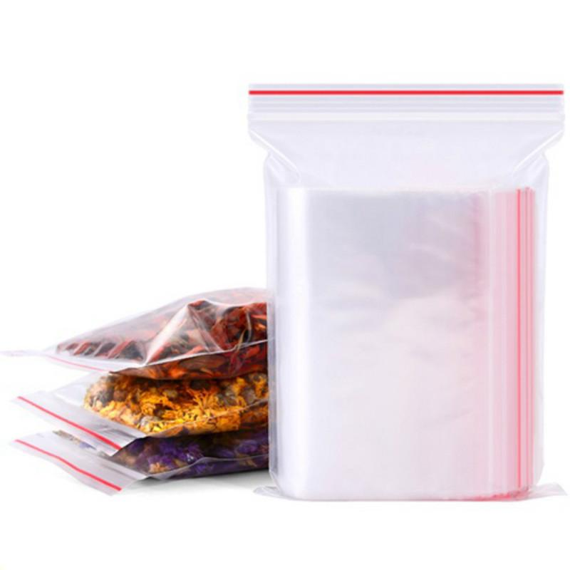 Clear PE Ziplock Bags Plastic Grip Self Seal Resealable Food Grade Storage Bags