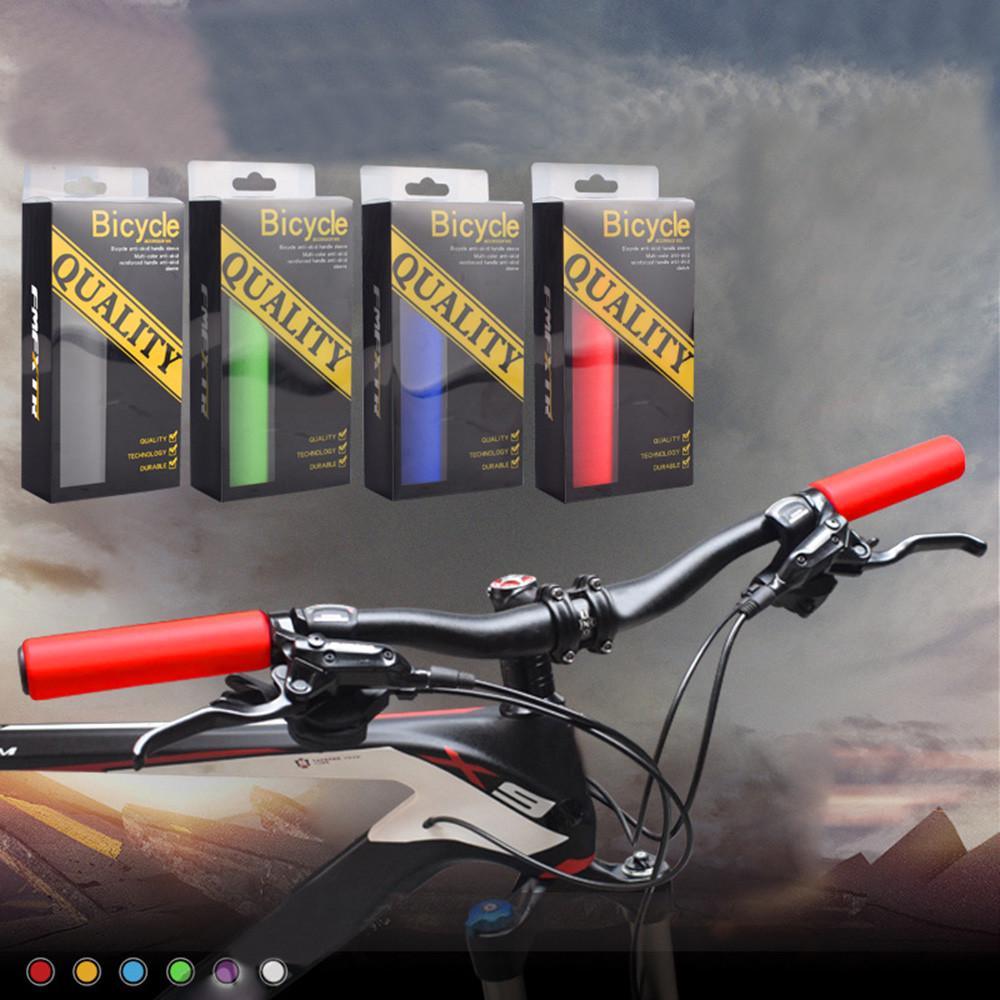 2pcs Non-slip MTB Bicycle Cycling Smooth Soft Sponge Foam Handlebar Grips Sports