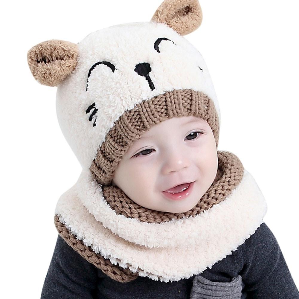 589931549b97 Bébé enfant enfants garçon fille tricoté Spire joli chapeau mou pour ...
