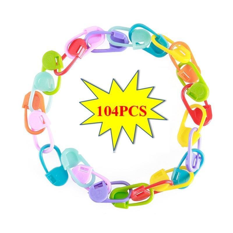 104Pcs bunte stricken häkeln Marker Stitch Halter Clip Handwerk mit ...