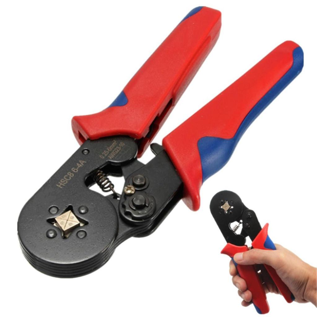 Hsc8 6 4a Awg23 10 Wire Stripper Self Adjusting Crimping Plier Auto Crimper Electricians Ratchet Action 1 Of 7