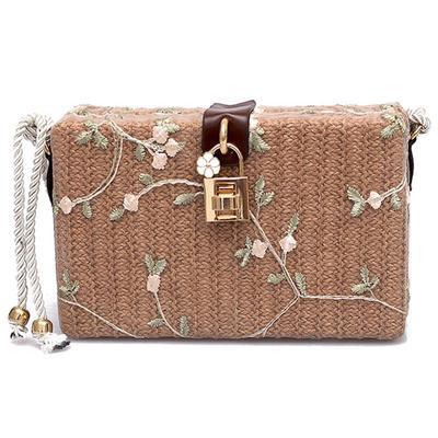 7364a3420ebb Летом пляж сумки женщин Messenger сумки площади соломы тканые дамы  Crossbody мешок плеча мешки