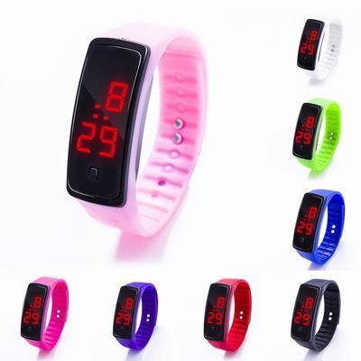 Impermeable Niña Moda De Deportes Banda Llevó Reloj Pulsera Digital Niños Silicona Niño K1lFJc3T
