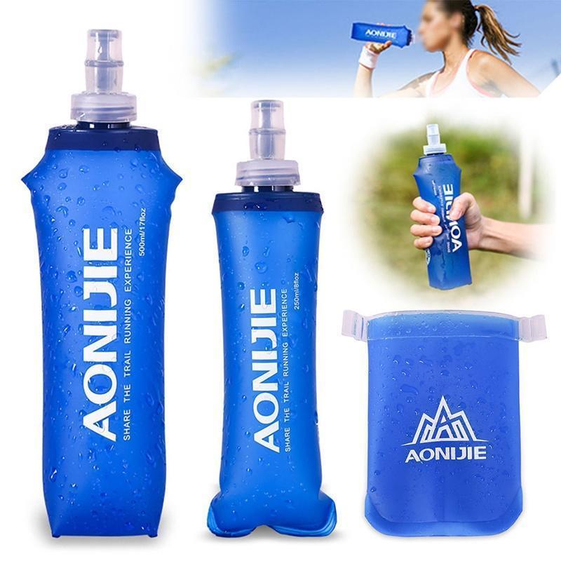 Carabiner Clip Hook 500ml Collapsible Folding Drink Water Bottle Kettle
