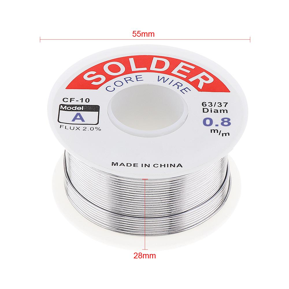 100g Solder Iron Wire Reel Welding Core Rosin Tin Lead Flux Soldering 0.8//1.0mm