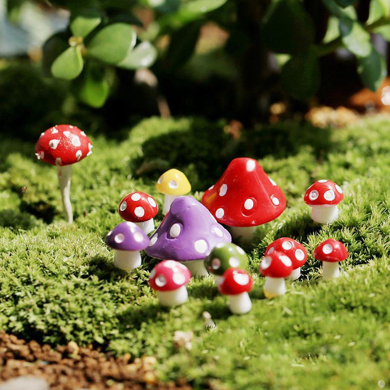 Resion фигурка 10PCS/комплект бонсай сад украшения грибы случайный цвет DIY Microlandschaft – купить по низким ценам в интернет-магазине Joom