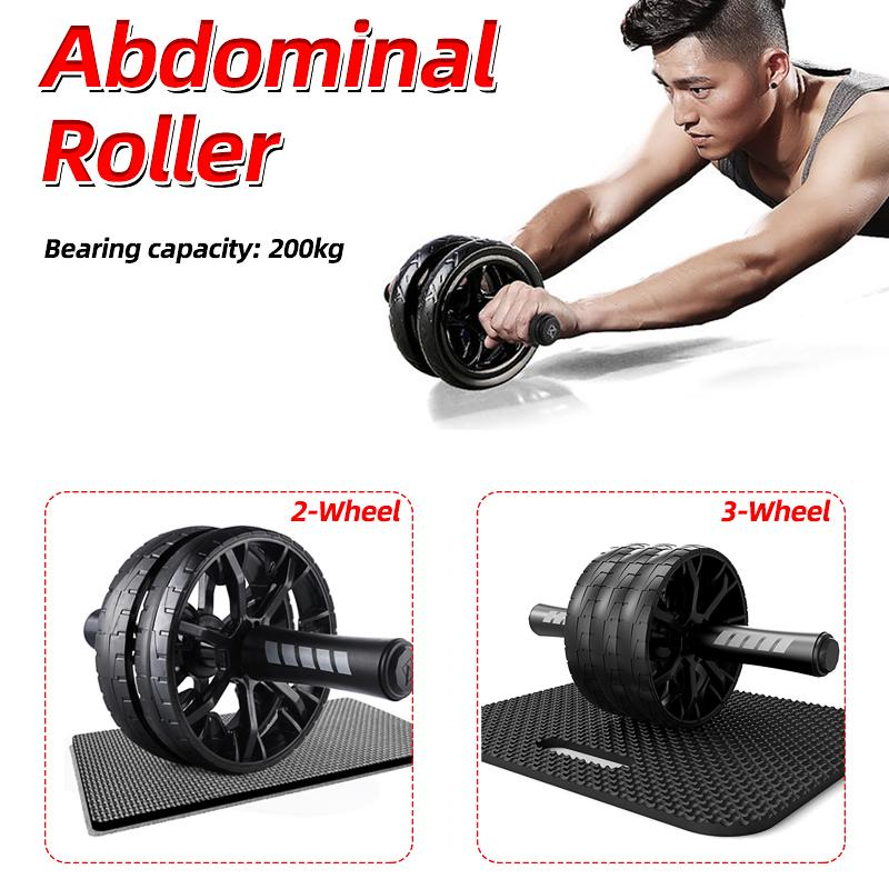 Abdominal Muscle Wheel  Fitness Double Equipments Roller Wheel Gym ACB#