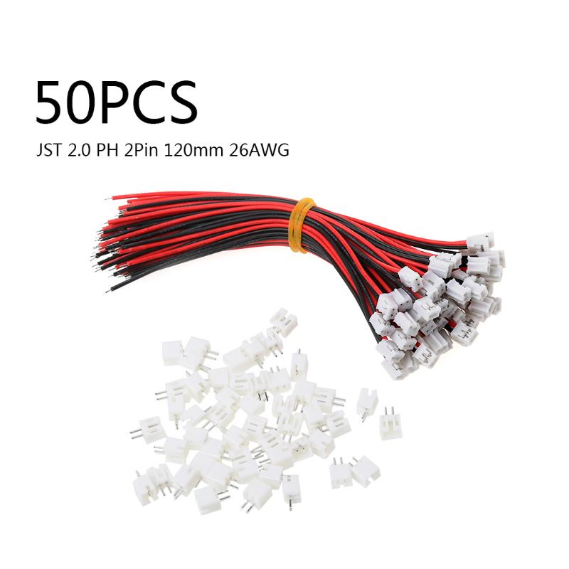 50 SETS Mini Micro JST 2.0 PH 2-poliger Stecker mit Kabel Kabel 120 ...