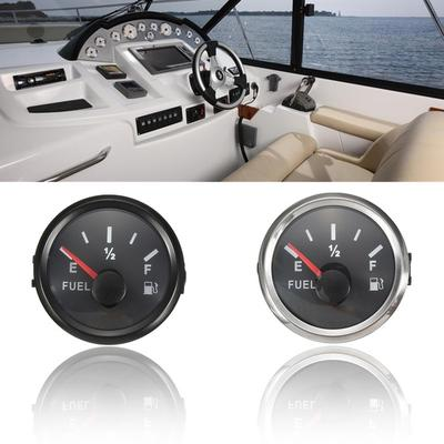 Marine Fuel Level Gauge Yacht Boat Oil Tank Indicator 52mm 12/24V