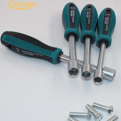 Socket Screwdriver SENRISE 1PCS 8mm Ratchet Screwdriver Driver Hex Socket Wrench Screwdriver for Auto Home Reparing