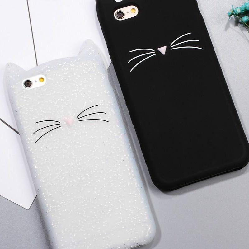三星A3 2016 A310手机壳胡须猫咪硅胶手机套A510弧形包边软保护套
