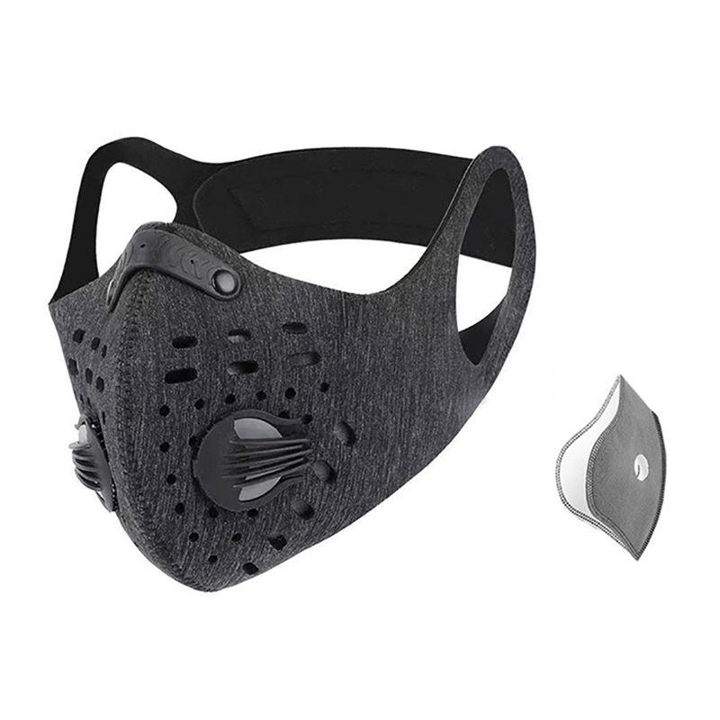 Cycling Face Mask Reusable /&20x filter pads 5 layers Activated Carbon Respirator