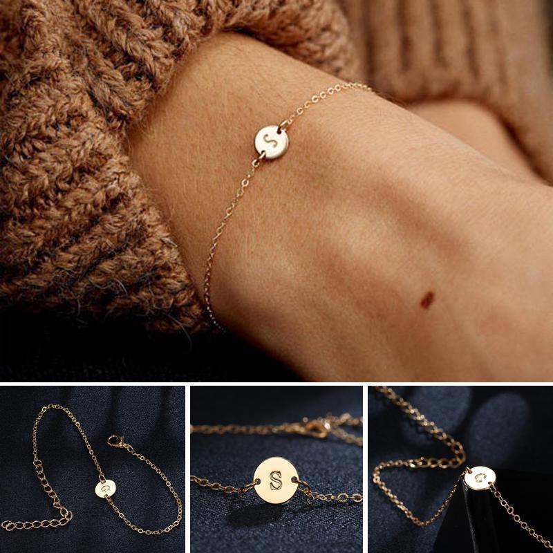 Dainty Women/'s Bracelets Name Plate Elevator Silver Bracelet Initial Bracelet Gift For Girlfriend Delicate Bracelet Bridesmaid Bracelet