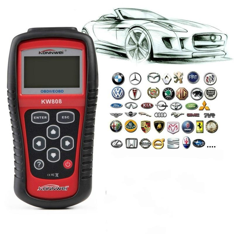 KW808 EOBD OBD2 OBDII Car Scanner Diagnostic Live Data Code Reader Check Engine!