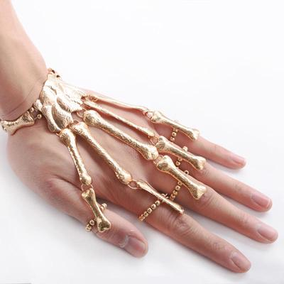 Generous Gothic Punk Skull Finger Bracelets For Women Nightclub Skeleton Bone Hand Finger Flexible Bracelets Bangles Halloween Gift Back To Search Resultsjewelry & Accessories