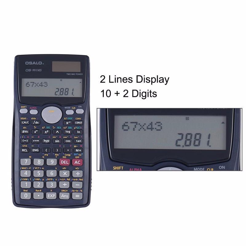 Multi Functional Pocket Scientific Calculator Student School College digital uk