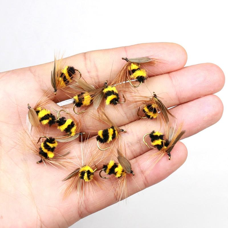 Hooks Artificial Bee Ant  Bionic Bait Insect Crank Fly Trout Fishing Lures