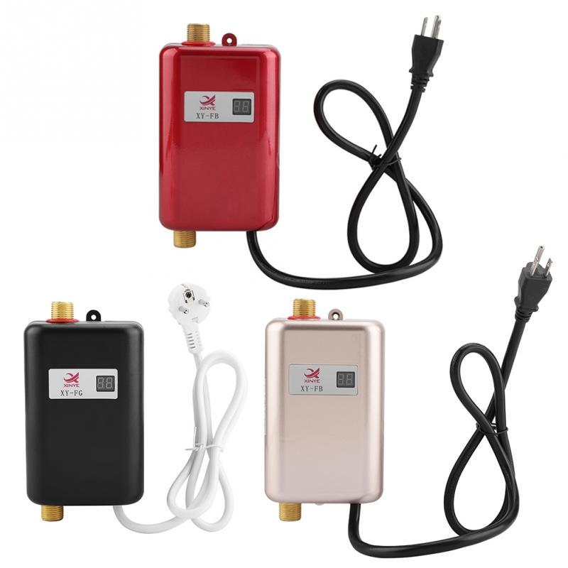 110V 3000W Mini Electric Tankless Instant Hot Water Heater Kitchen Shower Faucet