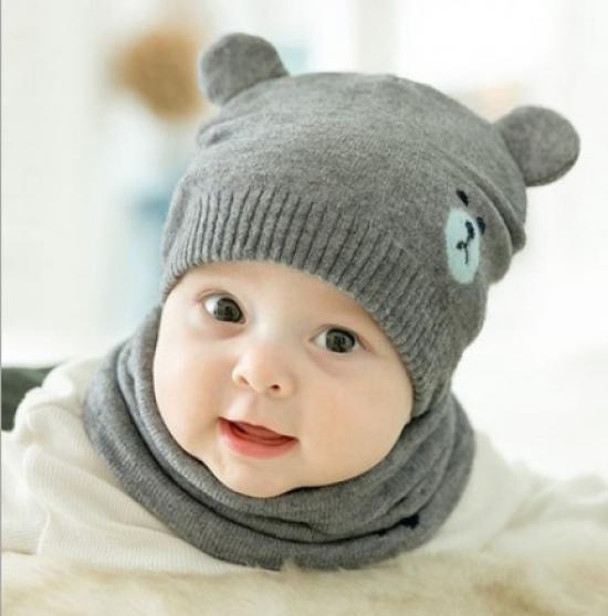 Winter Warm Baby Kids Hats Knitted Cap Fleece Hat Scarf Panda Ears Hats kingden