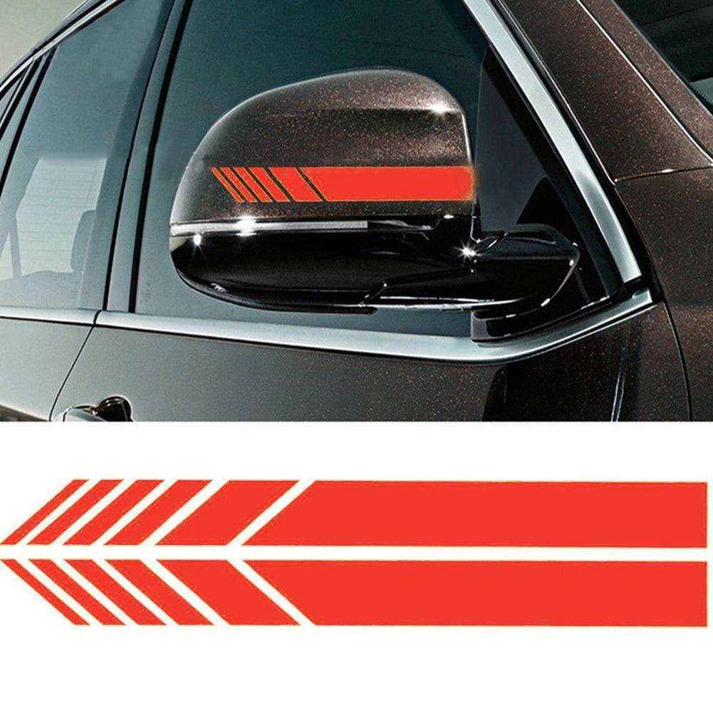 NEW Car Rearview Mirror Carbon Fiber 5D Sticker Vinyl Stripe Decal Accessories
