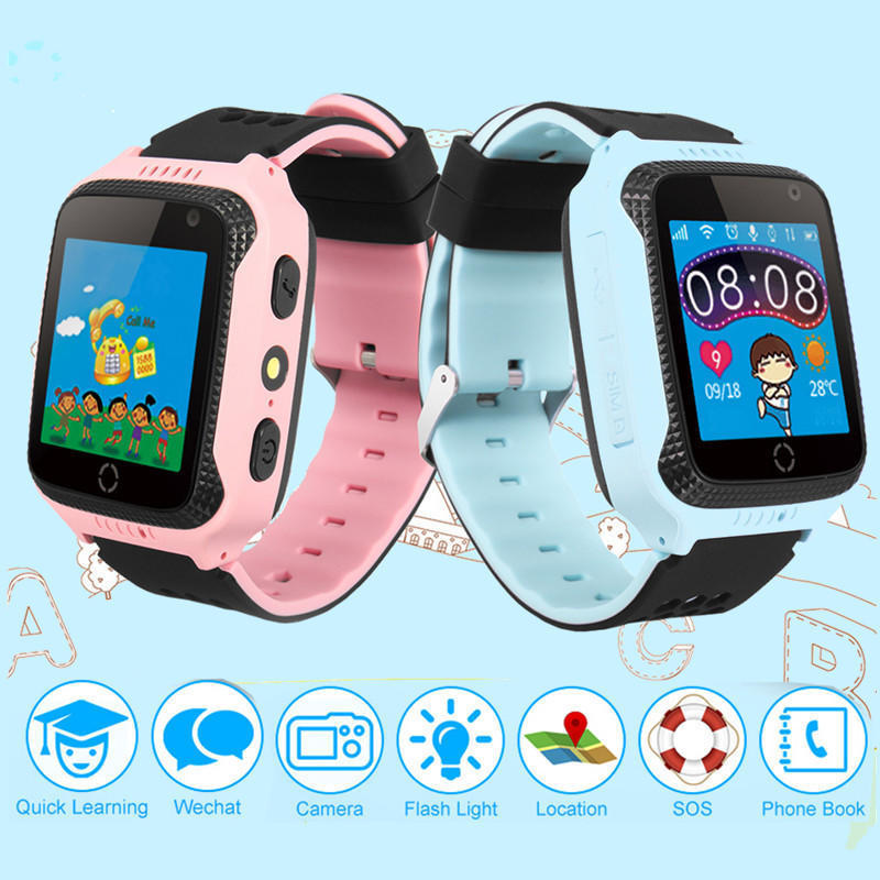 Digital Watches Child Cute Smartwatch Safe-keeper Sos Call Anti-lost Monitor Real Time Tracker For Children Base Station Location App Control Buy One Give One