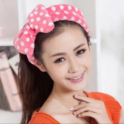 f0e4e5fcde8 1 pcs Big Bow Dot Striped Soft Hair Band Head Wrap Headband Bath Spa  Headband