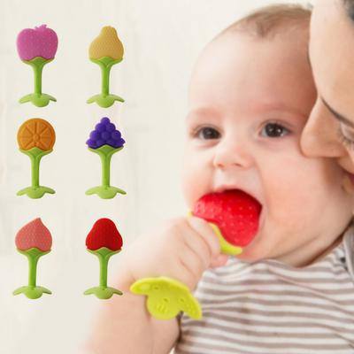 Infant Silicone Grind Teeth Toys Newborn Creative Fruits Shaped Teething Tools