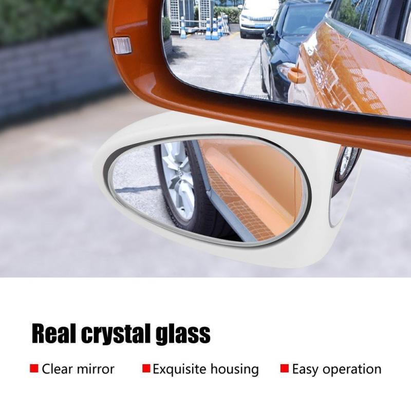 MagiDeal 2Pcs Frameless Side View Mirror HD Glass Square Blind Spot Mirrors