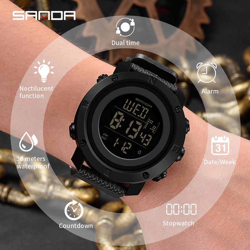 f841b2c57351 Sanda deportes al aire libre explosión personalizado reloj impermeable  electrónicos LED - comprar a precios bajos en la tienda en línea Joom