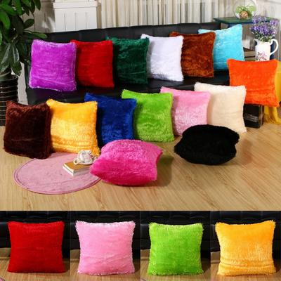 Fluffy Fur Plush Pillow Case Shaggy Throw Sofa Decor new Soft Cushion Cover